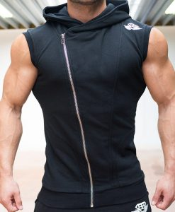XA1 sleeveless vest black front