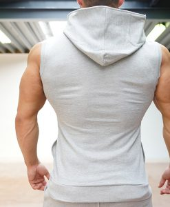XA1 sleeveless vest grey back