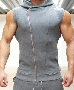 XA1 sleeveless vest grey front