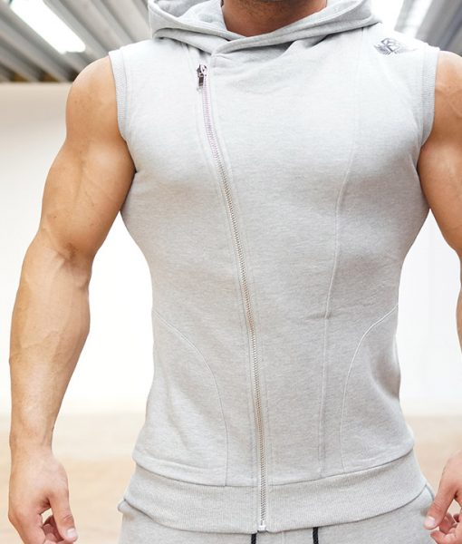 XA1 sleeveless vest  light grey front