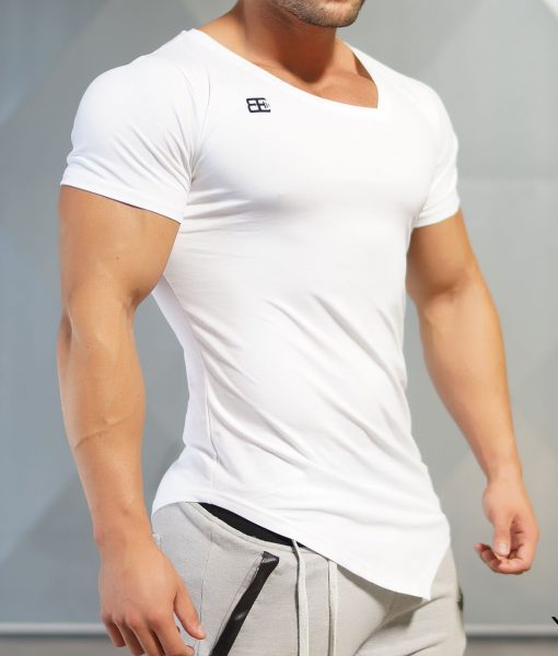 Yurei asymmetric v neck white out body engineers for V neck t shirts with designs