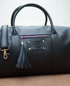 womens bag black front