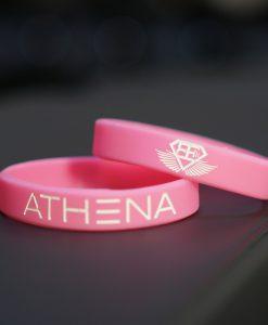 athena wristband pink