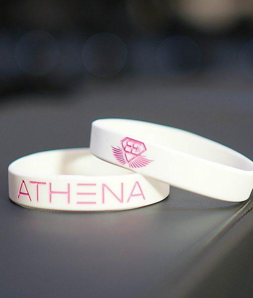 athena wristband white pink