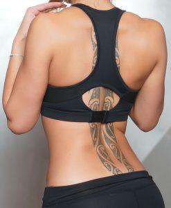 bra black back