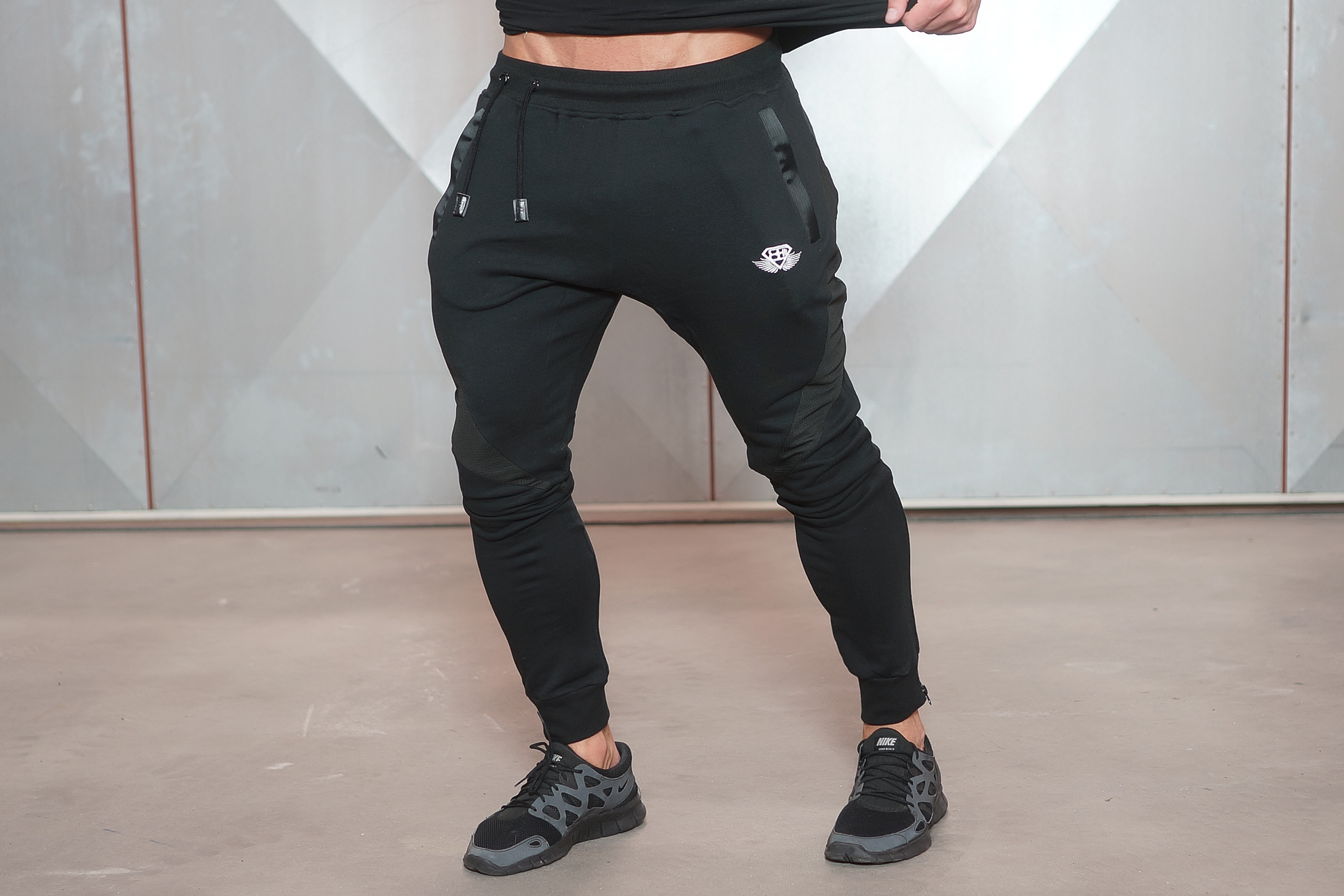 Our classic black jogger pants are known for their comfort. Sleek and muscle fit style for any exercise and workout. Order now!