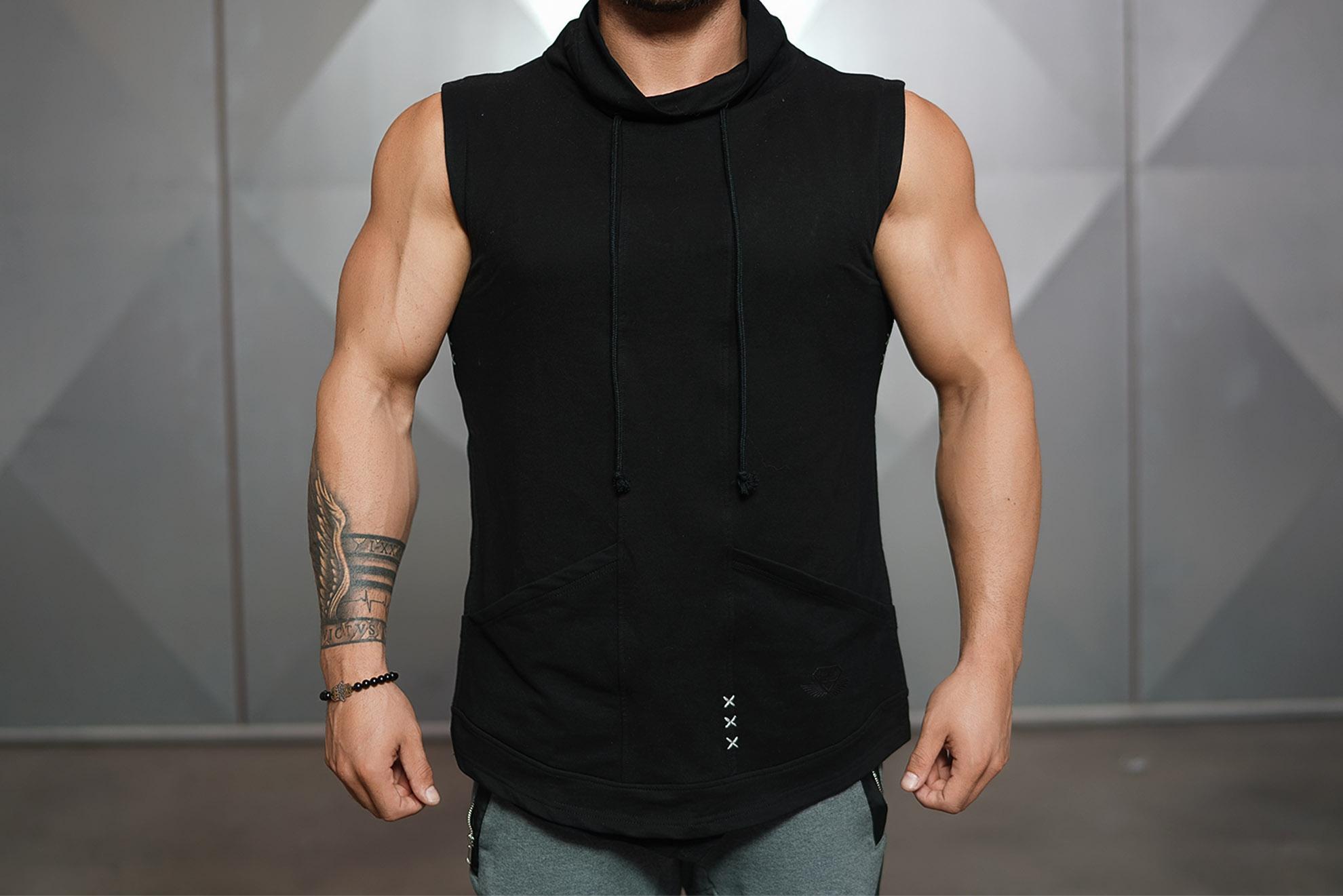neri sleeveless vest black body engineers international shop. Black Bedroom Furniture Sets. Home Design Ideas