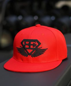 snapback-red black logo