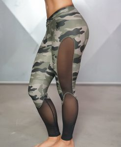 camo legging side