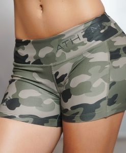 camo shorts front side