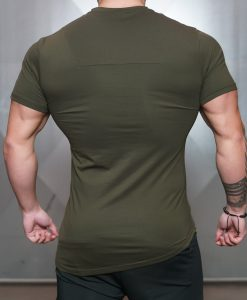 engineered life T olive green back