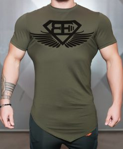 engineered life T olive green front
