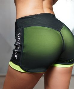 lotus shorts K green back