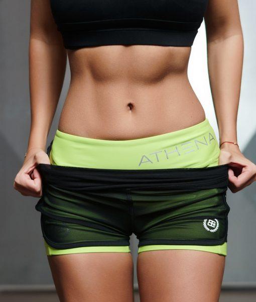 lotus shorts K green front