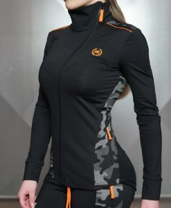 Areta orange vest side
