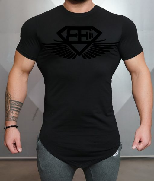 engineered life T black black front