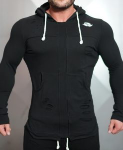 savage vest front black