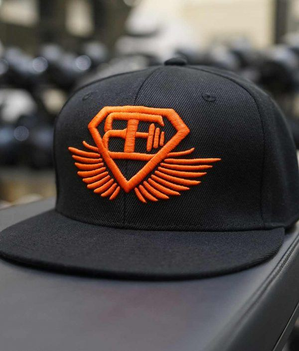 BE Snapback - Black & Dutch Orange