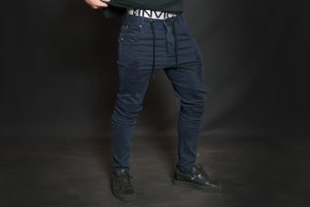 AMOS Distressed Jogger Jean - Navy Blue