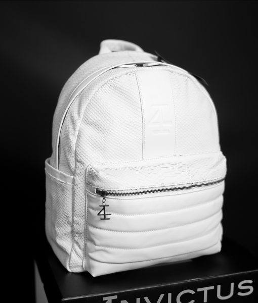 GUN METAL LIFESTYLE BACKPACK - WHITE OUT