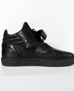 GUN METAL Python Sneaker - BLACKOUT