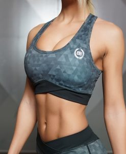 GEO Sports Bra - DARK GREY