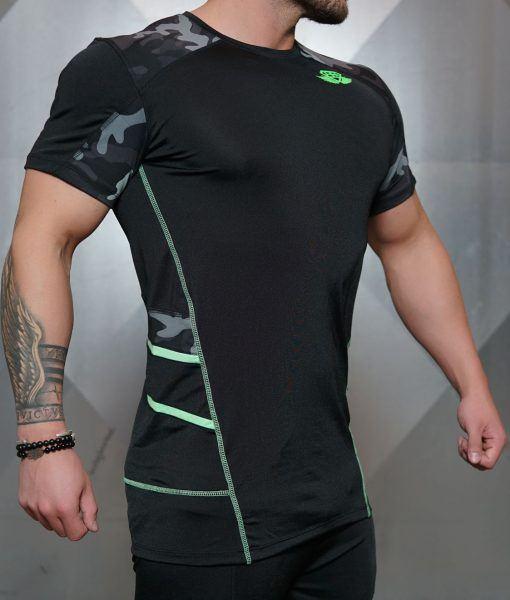 Renzo Performance Shirt - Black & ACID GREEN