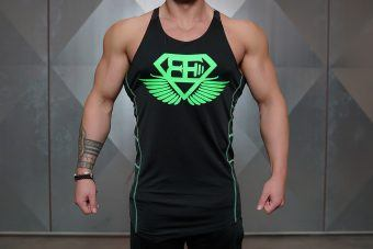 RYU Performance Stringer - Black & ACID GREEN