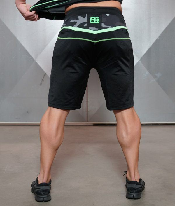 SAMURU Performance Shorts - Black & ACID GREEN
