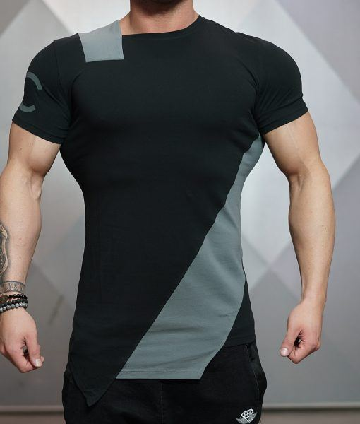 DC CUE shirt - BLACK & ANTHRACITE