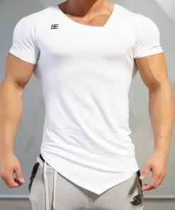 YUREI - asymmetric V neck WHITE OUT