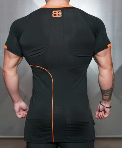 ANAX Performance Shirt - Black & Dutch Orange