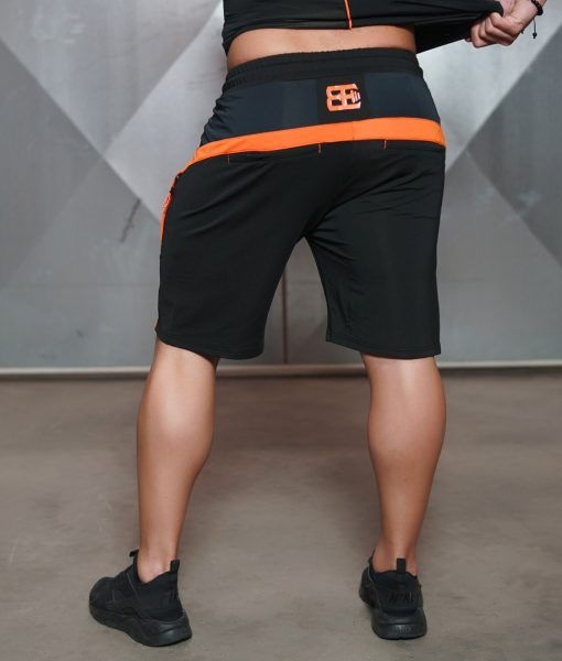 ANAX Performance Shorts - Black & Dutch Orange