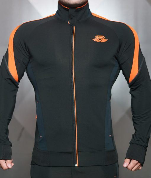 ANAX Performance Vest - Black & Dutch Orange