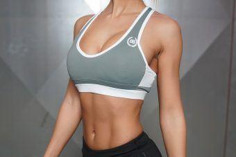 ATHENA Deep-V Sport Bra - Grey