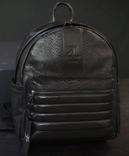 GUN METAL LIFESTYLE BACKPACK - BLACK ON BLACK