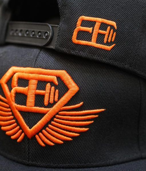 BE Snapback - Black & Dutch Orange