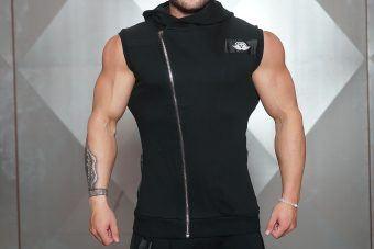 YUREI Sleeveless vest - ALL BLACK