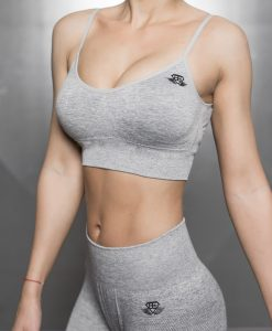 Valkyrie Seamless Sports Bra - Light Grey