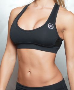 ATHENA Deep-V Sport Bra - ALL BLACK