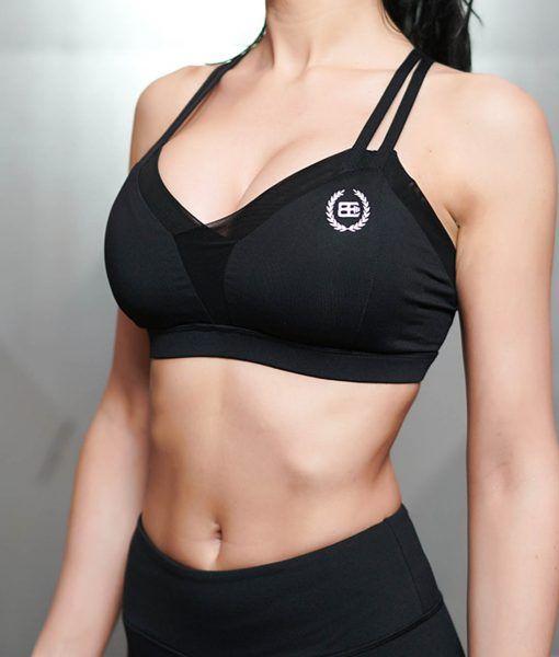 CHARA Sport Bra - ALL BLACK