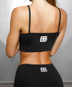 ATHENA COMFORT CROP TOP - Black Out