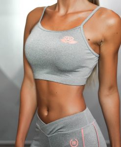 ATHENA COMFORT CROP TOP - Grey Melange
