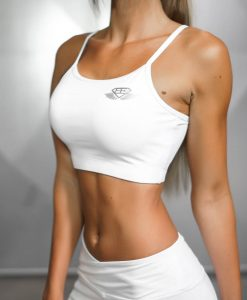 ATHENA COMFORT CROP TOP - White Ivory