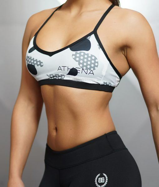 CEMO Deep-V Sport Bra - Black Grey