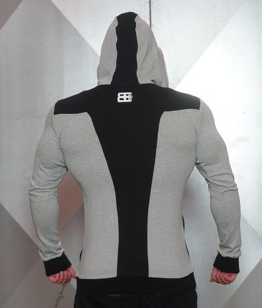 YUREI vest - LIGHT GREY & BLACK ACCENTS