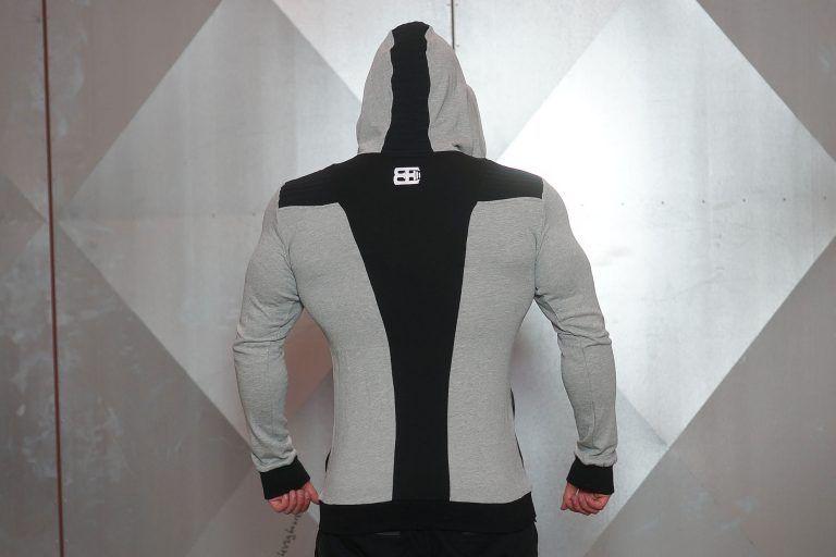 YUREI vest - LIGHT GREY & BLACK ACCENTS