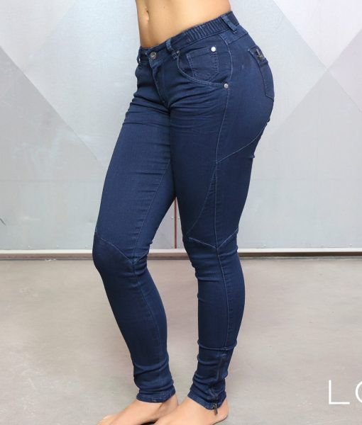 Lotus Denim Legging - Odeta Blue