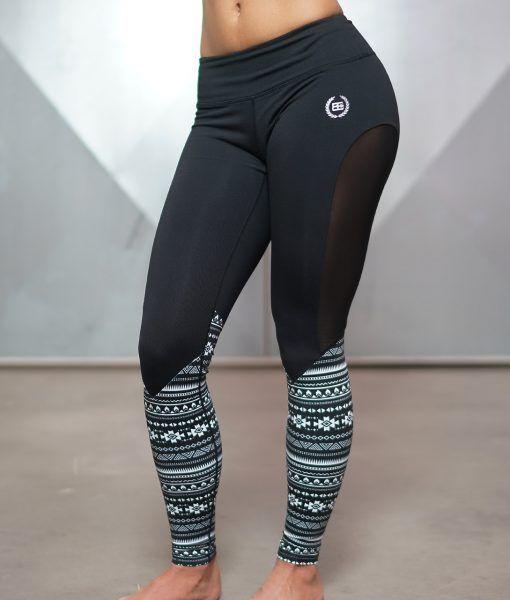 Athena Maori Legging - Inverted Black