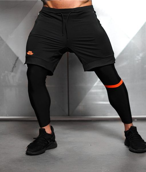 Demon Performance Bottom - Black & Dutch Orange